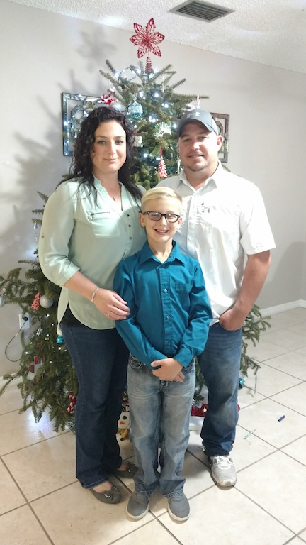 Joshua Perkins, Owner, with his family